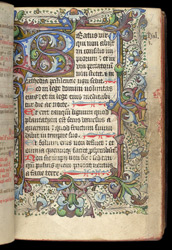 Psalm 1, in a Psalter and Prayerbook